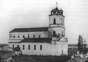 Костел Домініканського монастиря після великої пожежі 1845-го року