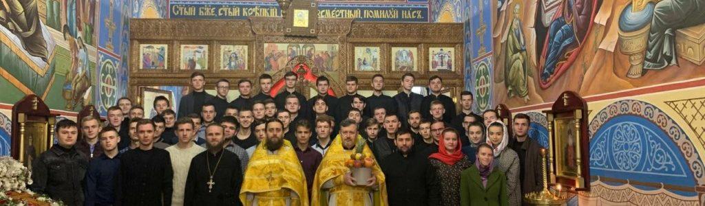 Ректор ВДС архімандрит Євменій молитовно відзначив День Ангела